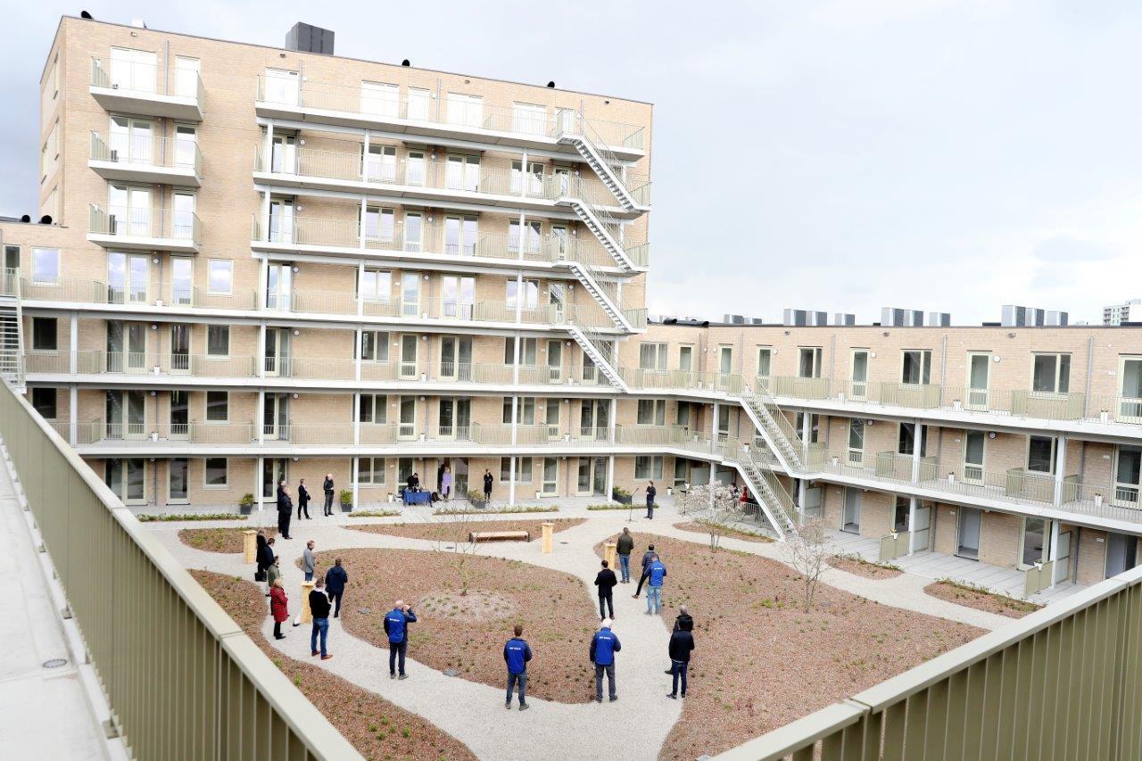 Eerste woningen Sniepkwartier opgeleverd aan woningfonds a.s.r.